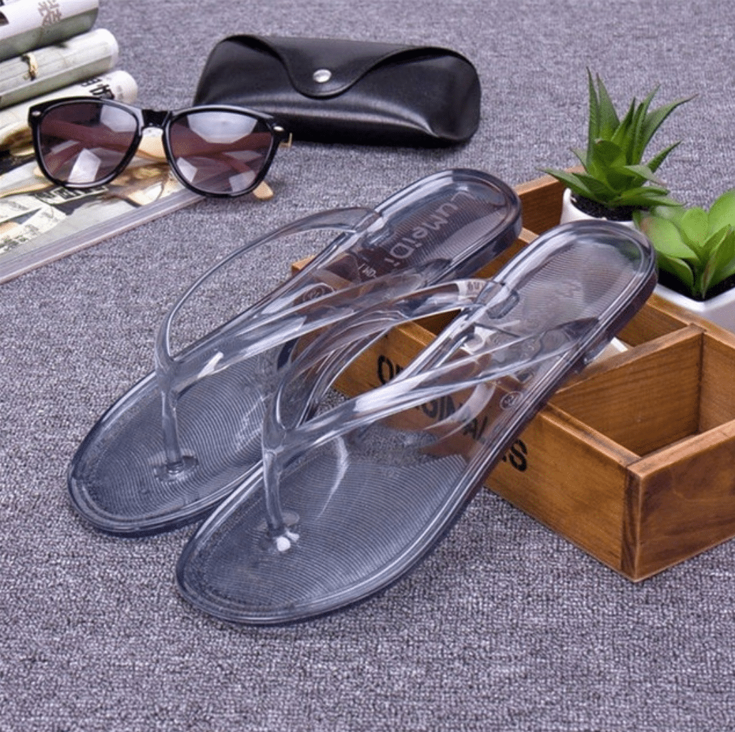 chanclas transparentes